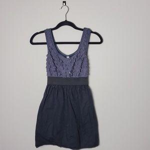 Xhiliration Black & Gray Sparkle Dress